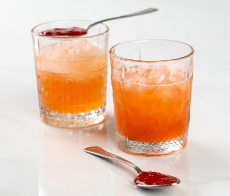 Cocktail de Gin con Mermelada de Fresa